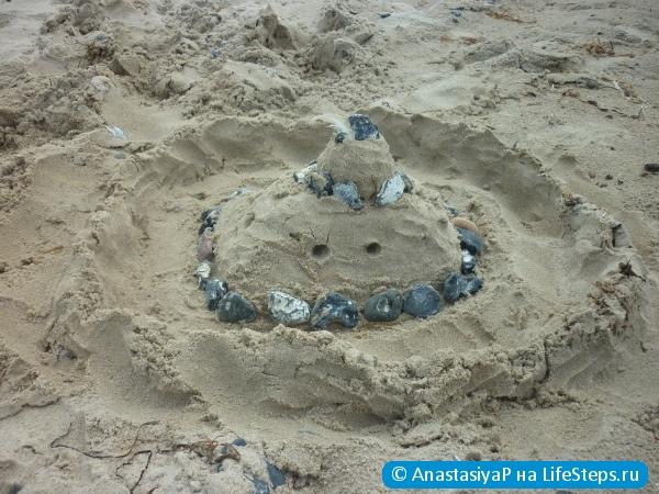 Замок из песка своими руками